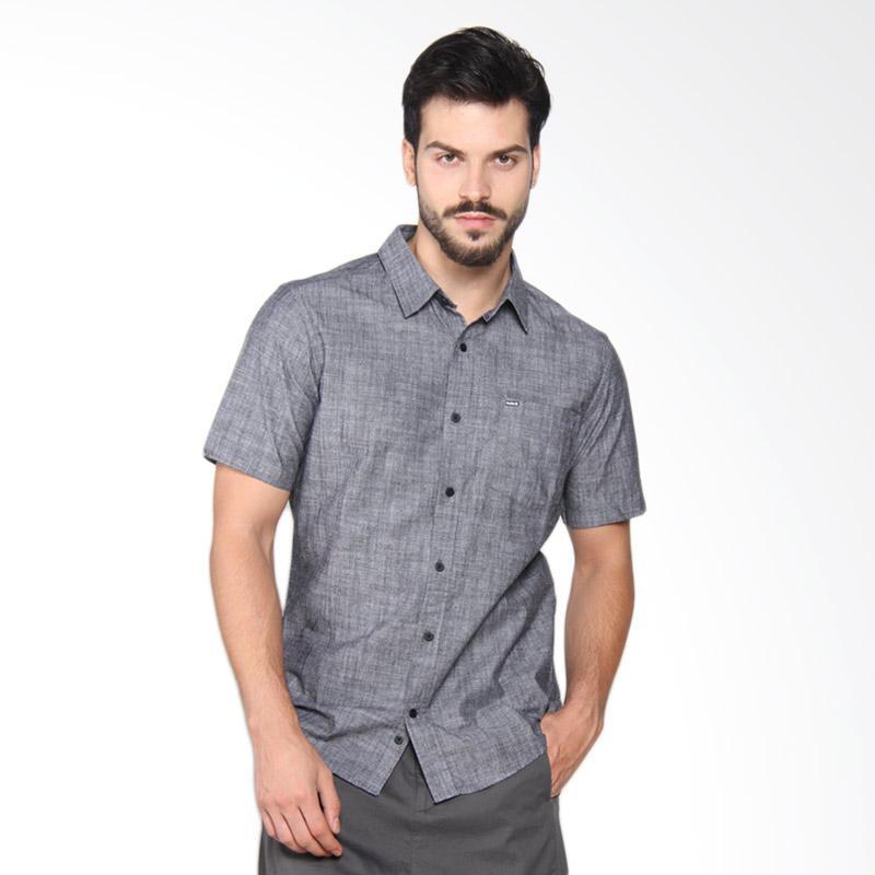 Hurley OO 3.0 Short Sleeve Shirt Kemeja Pria - Black MVS0003780 00A