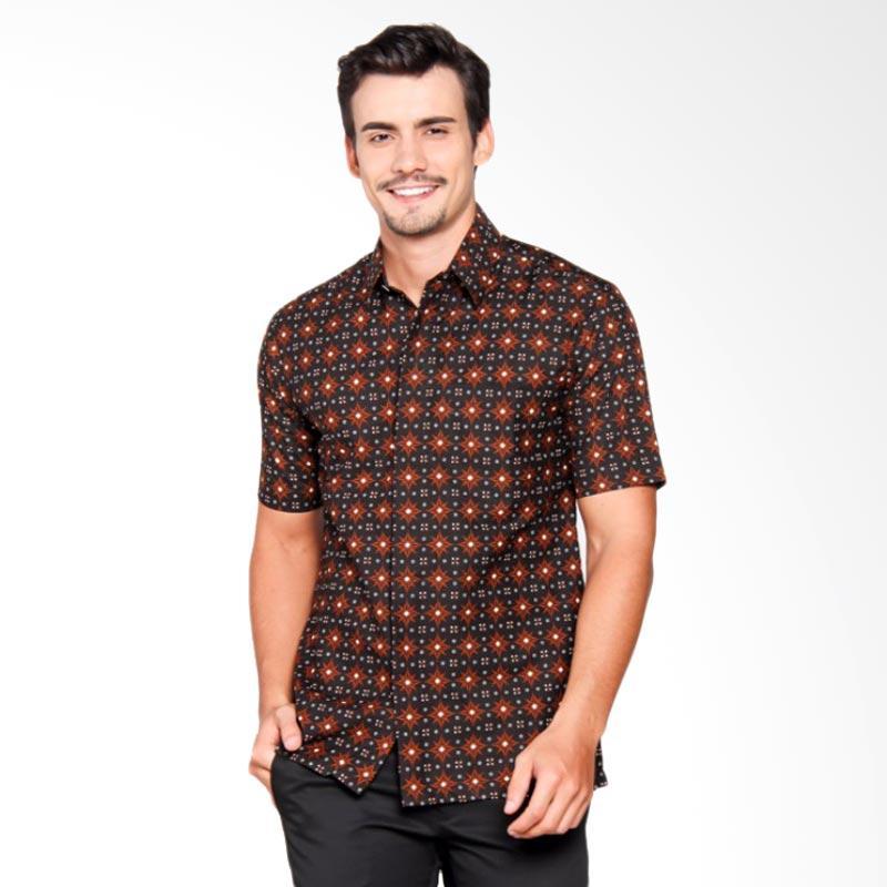 Batik Heritage Katun Bintang Slim Fit Batik Pria - Hitam
