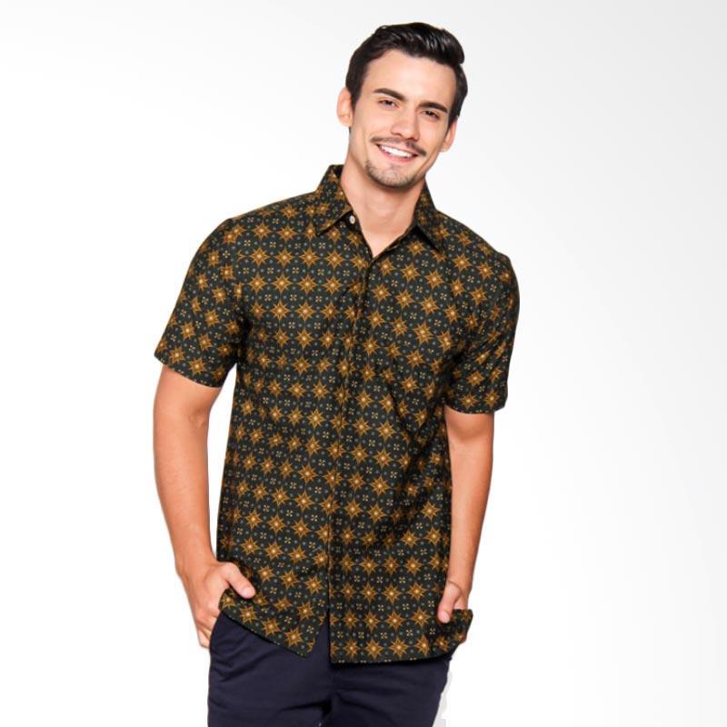 Batik Heritage Katun Bintang Slim Fit -  Hitam/Kuning/Hijau