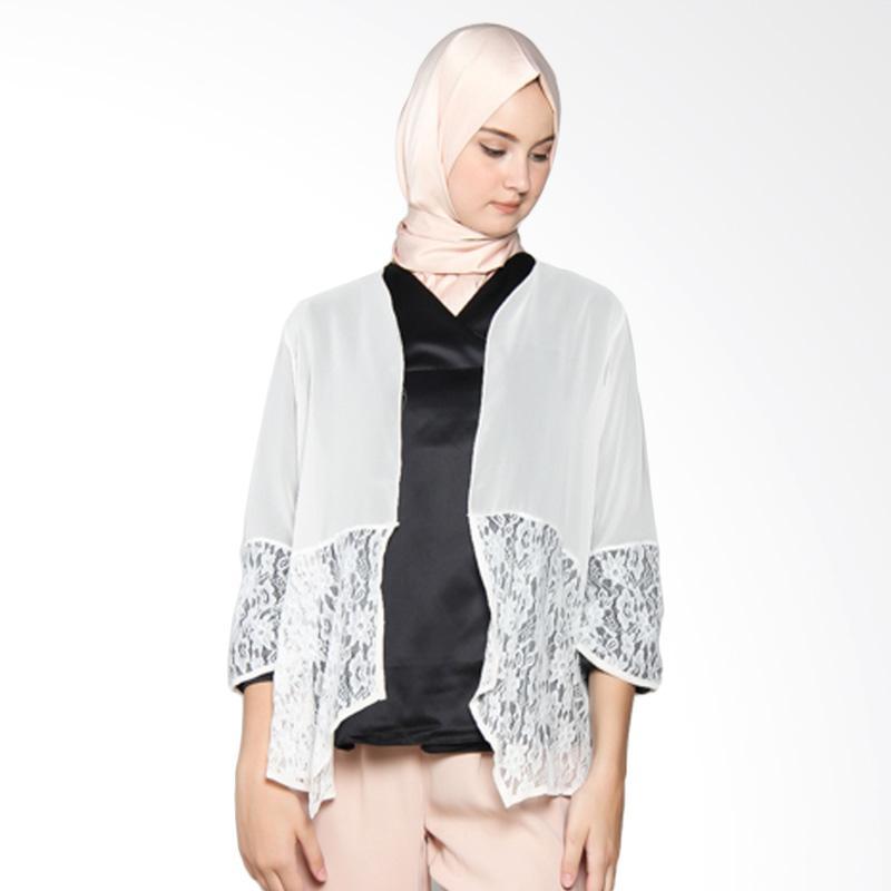 Yanna Azwar Outer Cardigan Muslim - Broken White