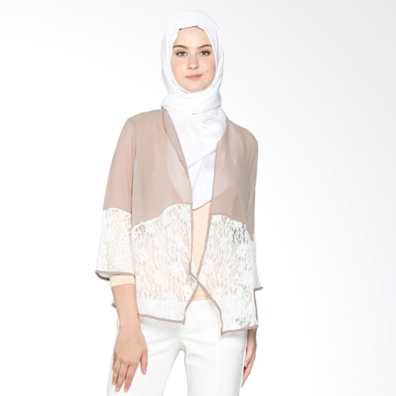 Yanna Azwar Outer Cardigan Muslim - Brown