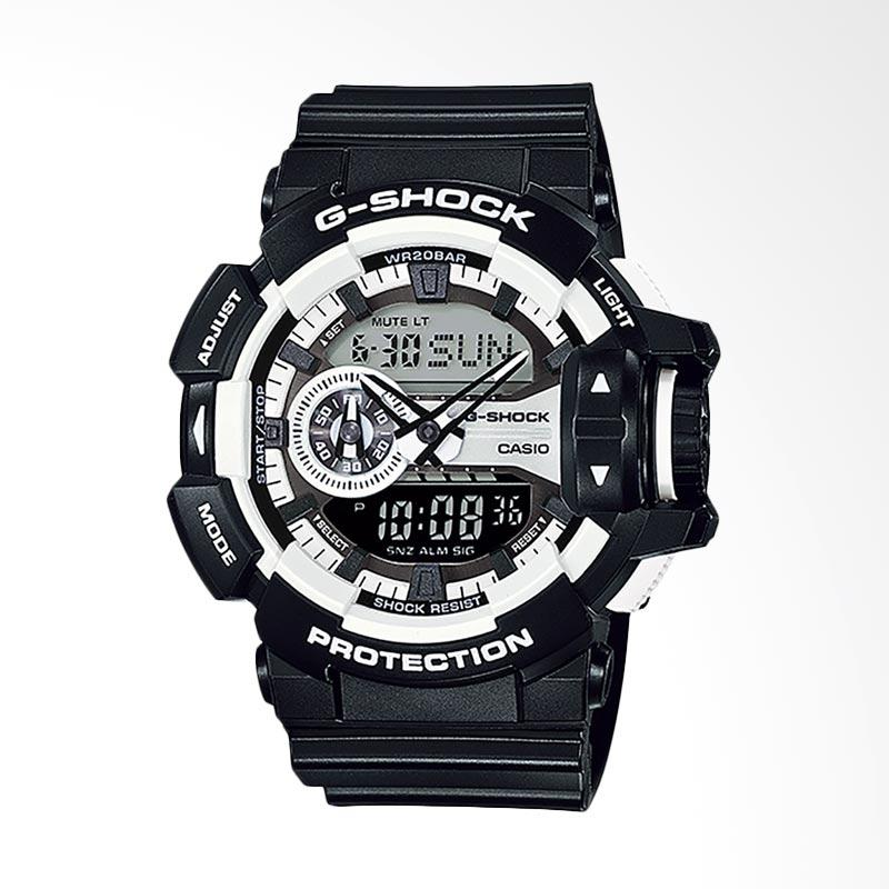 CASIO G-Shock Jam Tangan Pria - Black White GA-400-1ADR
