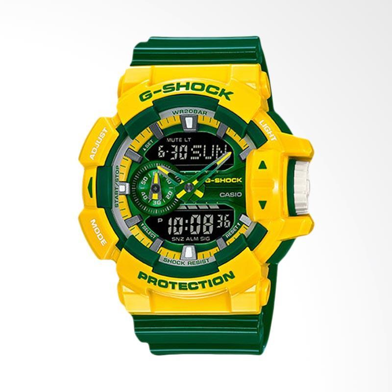 CASIO G-Shock Jam Tangan Pria - Green Yellow GA-400CS-9ADR