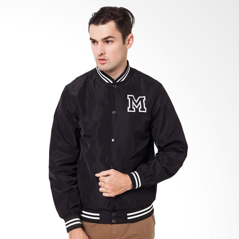 harga Minarno Black M Varsity Jacket Blibli.com