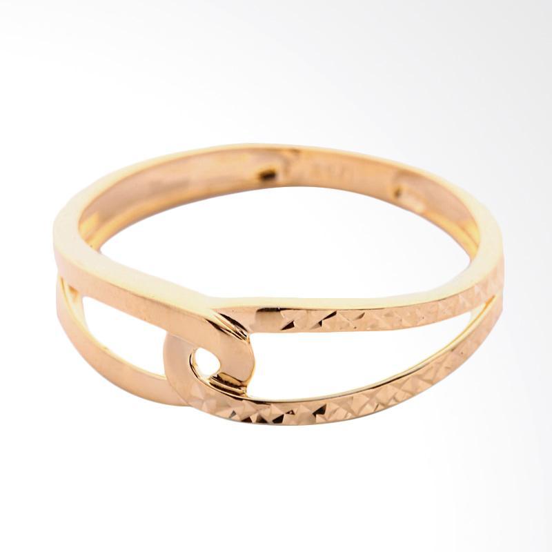 Cincin Emas 18K  - perhiasan emas - Gold Ring L1708080003 - WHIZLIZ