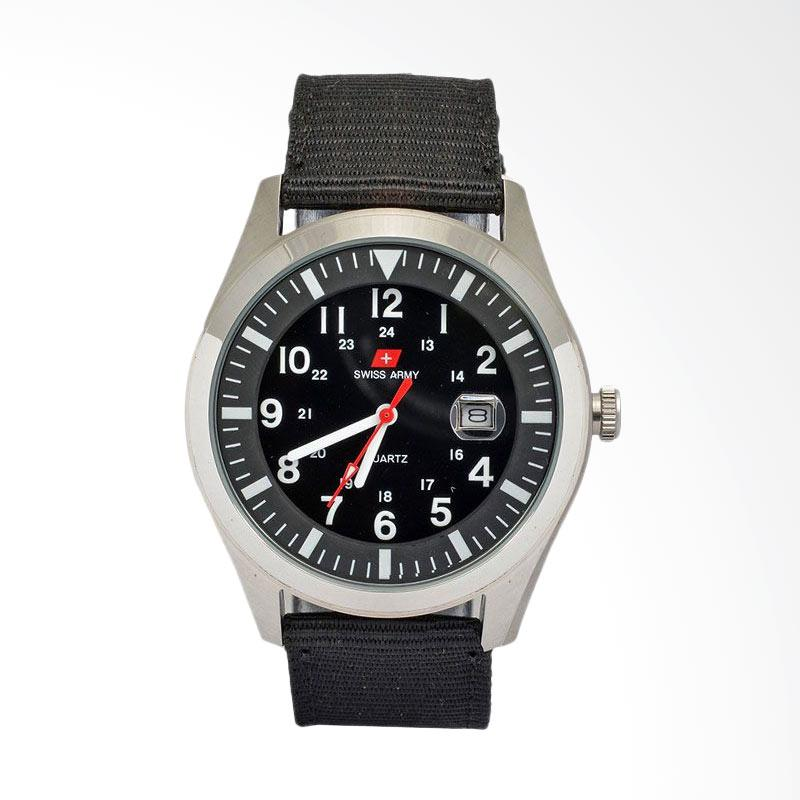 Swiss Army Sporty Jam Tangan Pria - Black SA1881SB