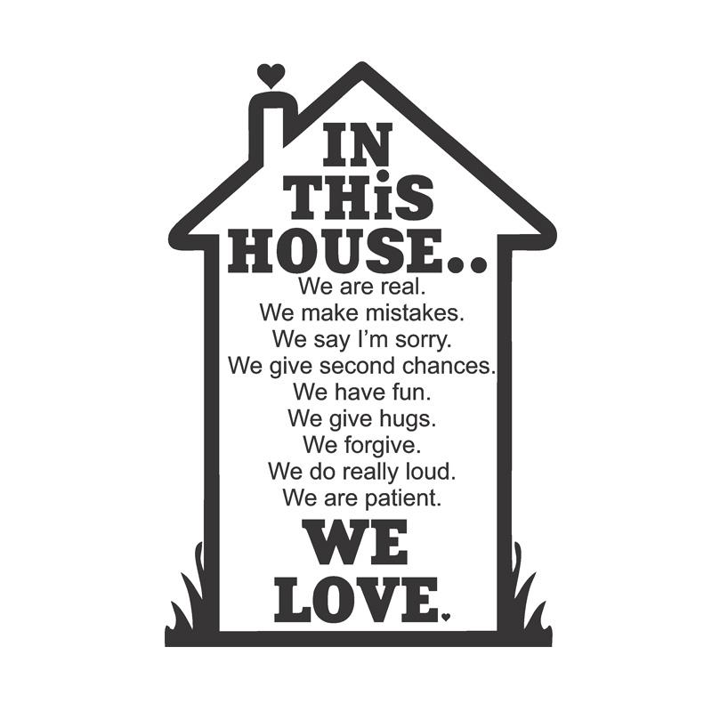 OEM In This House 2 Rumah Cantik Quot Wall Stiker Dekorasi Dinding