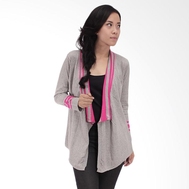 Tendencies Cardigan Breaking Line Outwear Cardigan Wanita - Abu-abu