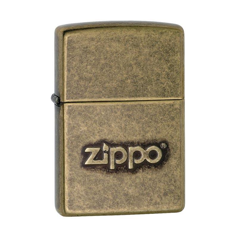 Zippo Stamped Pocket Antique Brass Lighter