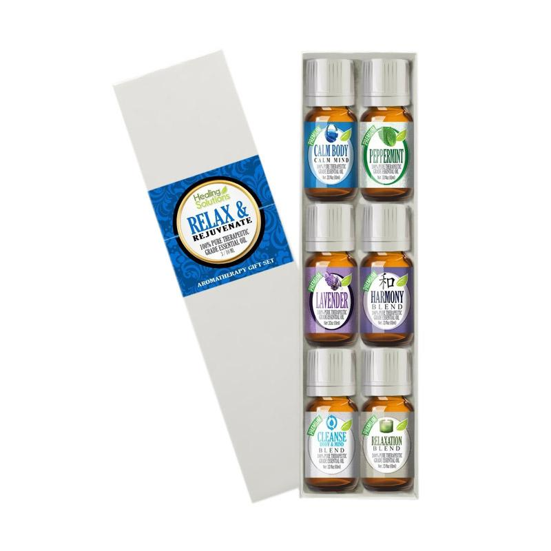Healing Solutions Relax & Rejuvenate Set Best Therapeutic Grade Essential Oil Kit [10 mL]