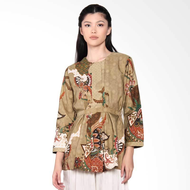 Batik Adikusuma 402095047 Batik Daun Lompong Women Blouse