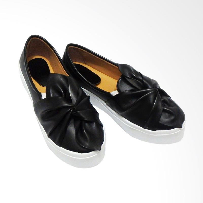 Anneliese Ribbon Slip On Sepatu Wanita - Hitam