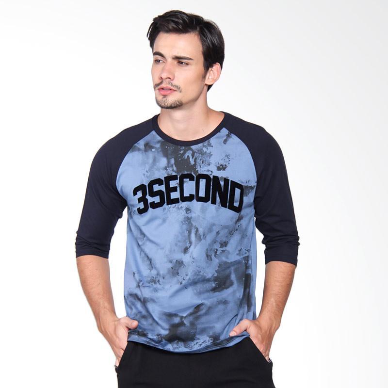 3Second 2309 Tshirt Pria - Blue 123091712