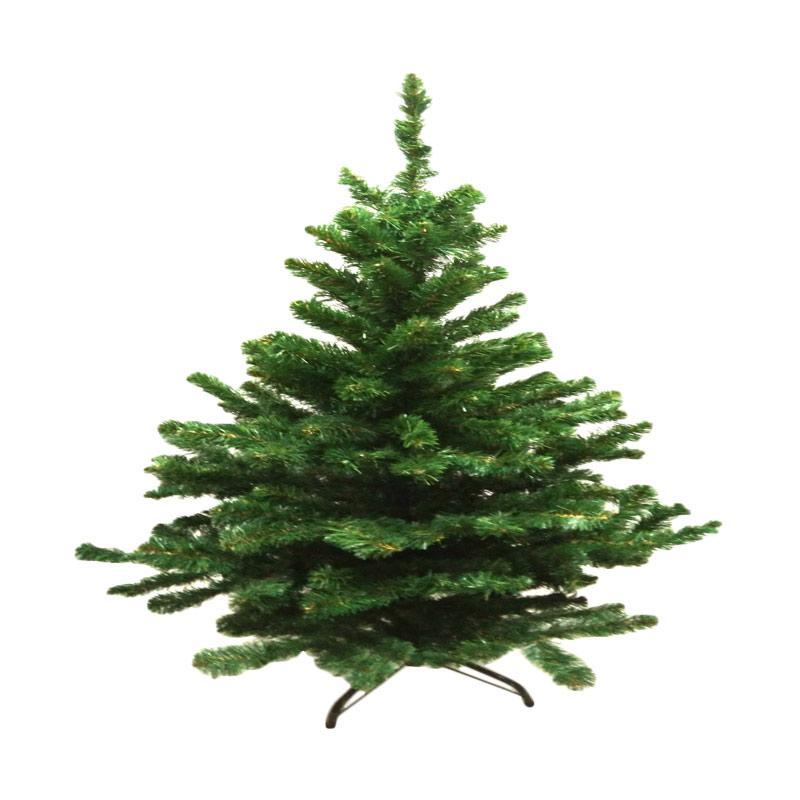 GT Flower Christmas Tree PVC Pohon Natal - Hijau [9 Feet]