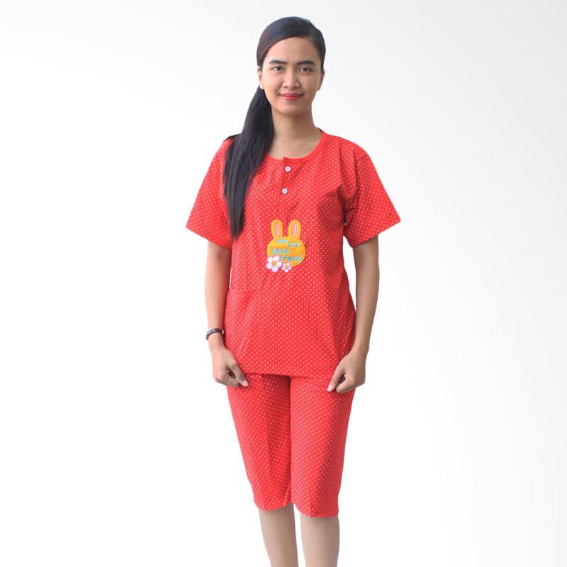 Aily 701 Setelan Pakaian Tidur Wanita - Merah