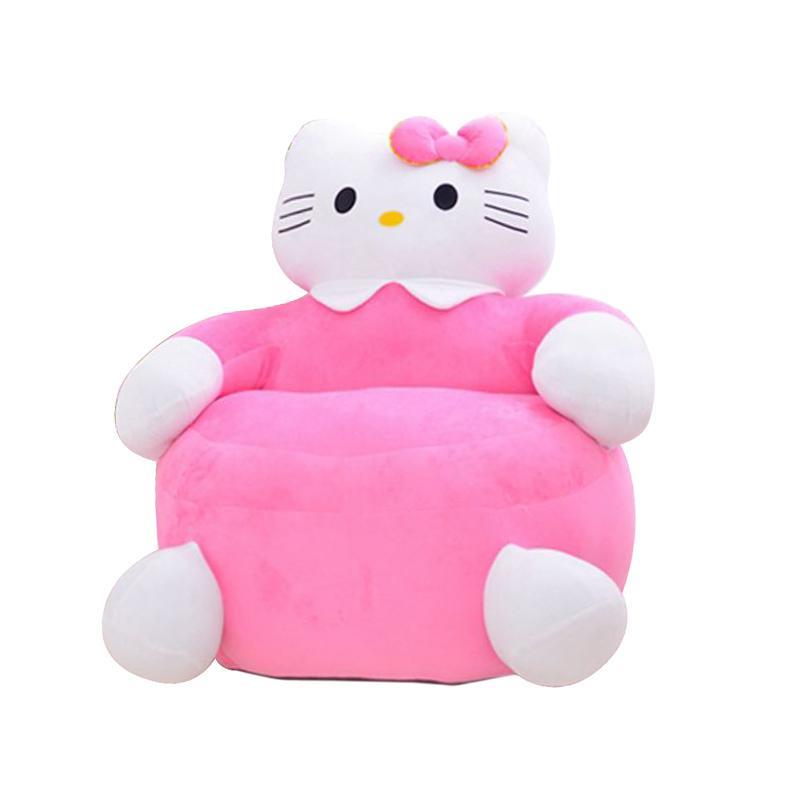 Hello Kitty HK Full Body Single Sofa - Pink White