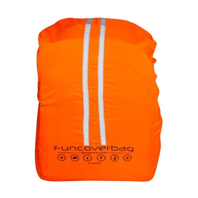 Funcover Waterproof Sarung Tas - Orange [BBR9623-Orange]