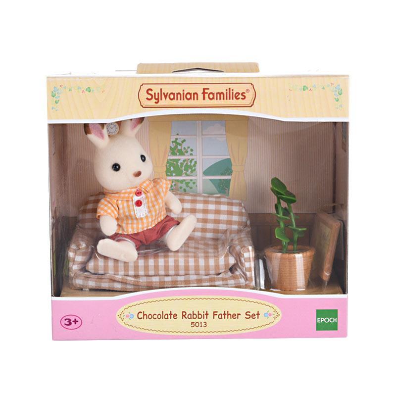 Sylvanian Families Chocolate Rabbit Father Set Mainan Anak