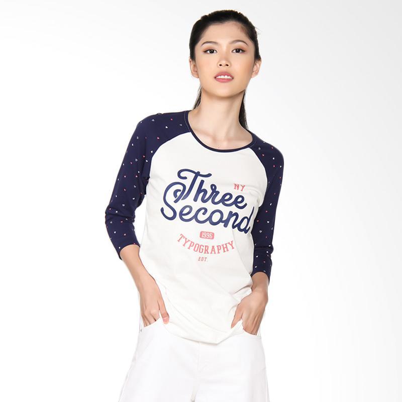 3 Second Ladies Tshirt 104091722 0409 Atasan Wanita - Blue
