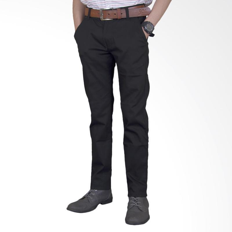 Jual Celana Chino Panjang Pria - Black Online - Harga & Kualitas Terjamin | Blibli.com