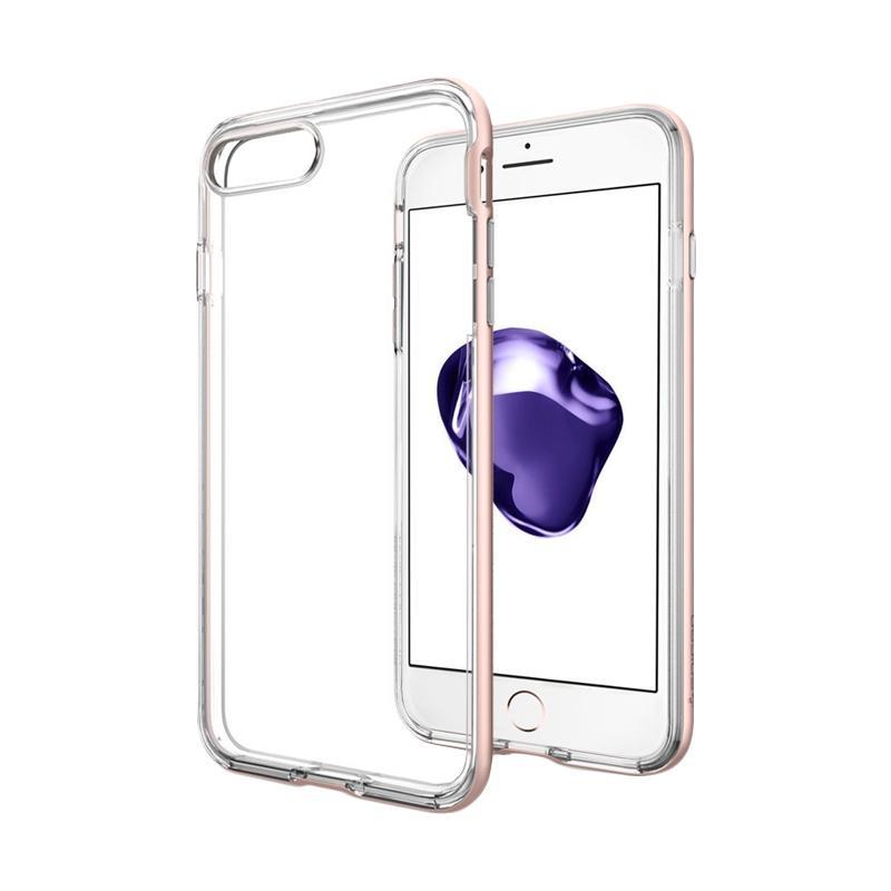 Spigen Neo Hybrid Crystal Casing for iPhone 7 Plus 2016 - Rose Gold
