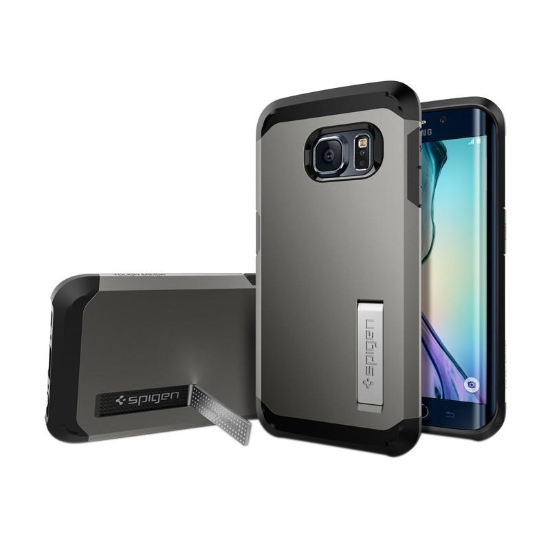Spigen Tough Armor Casing for Samsung Galaxy S6 Edge 2015 - Gunmetal