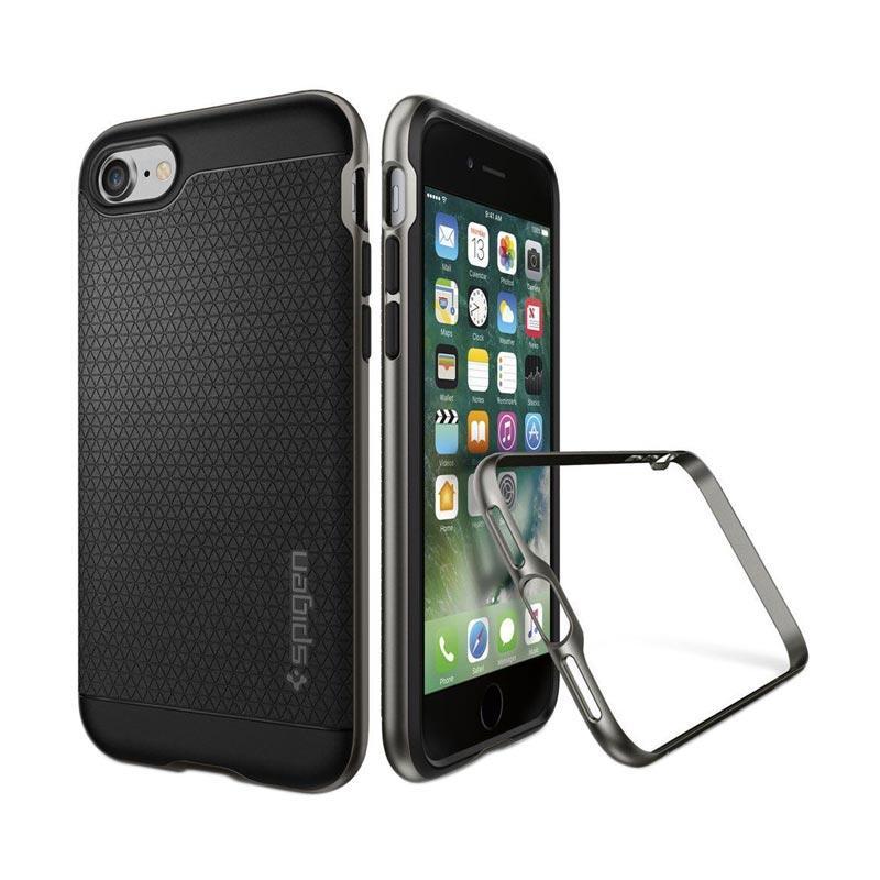 Spigen Neo Hybrid Crystal Casing for iPhone 7 Plus 2016 - Gunmetal