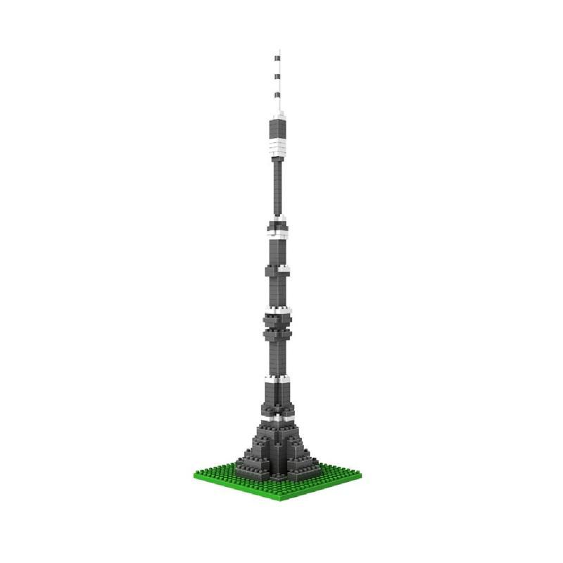 Loz Diamond Block World Famous Architecture Series 9362 Ostankino Tower Moscow Mainan Anak