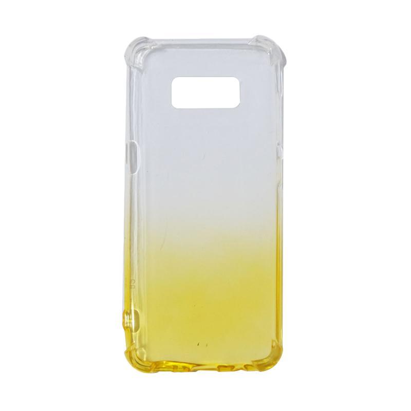 QCF BUY 1 GET 1 Softcase Anti Crack Anti Shock Warna Gradasi Casing for Samsung Galaxy S8 Silikon / Case Unik - Kuning (Free Warna Random)