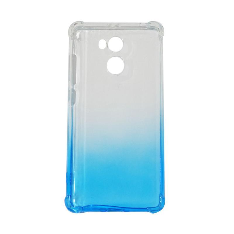 QCF BUY 1 GET 1 Softcase Anti Shock Anti Crack Warna Gradasi Silicone Casing for Xiaomi Redmi 4 Prime Ultrathin / Case Unik - Biru (Free Warna Random)