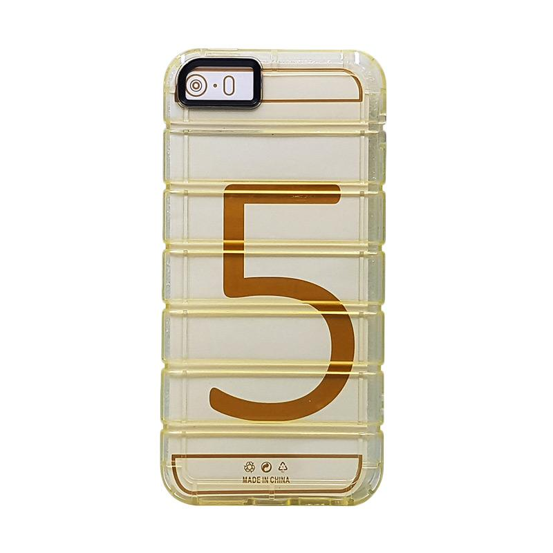 Fashion Case Anti Crack Casing for iPhone 5 - Gold