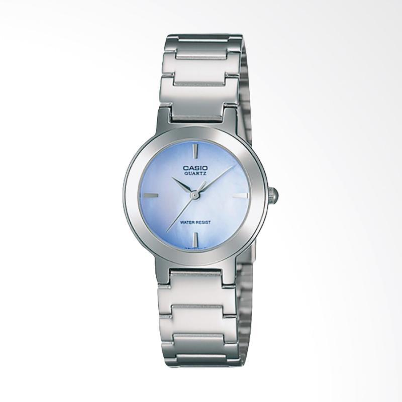 CASIO LTP-1191A-2CDF Enticer Ladies Stainless Steel Jam Tangan Wanita - Silver