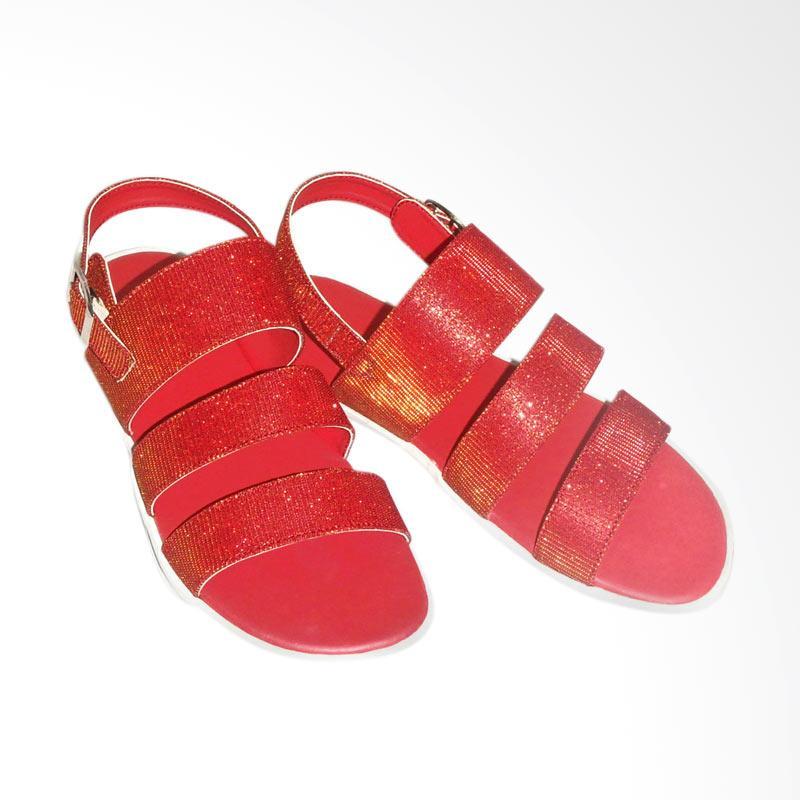 Anneliese Aurora Sandal Flat Wanita - Red