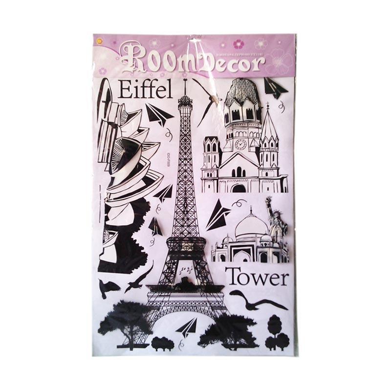 OEM Eiffel Tower 3D 5D Timbul Wall Sticker Dinding Dekorasi