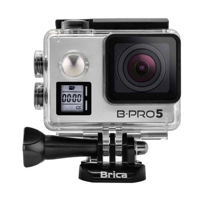 Brica B-PRO 5 Alpha Edition Mark IIS AE2S Action Camera with Brica Monopod - Silver