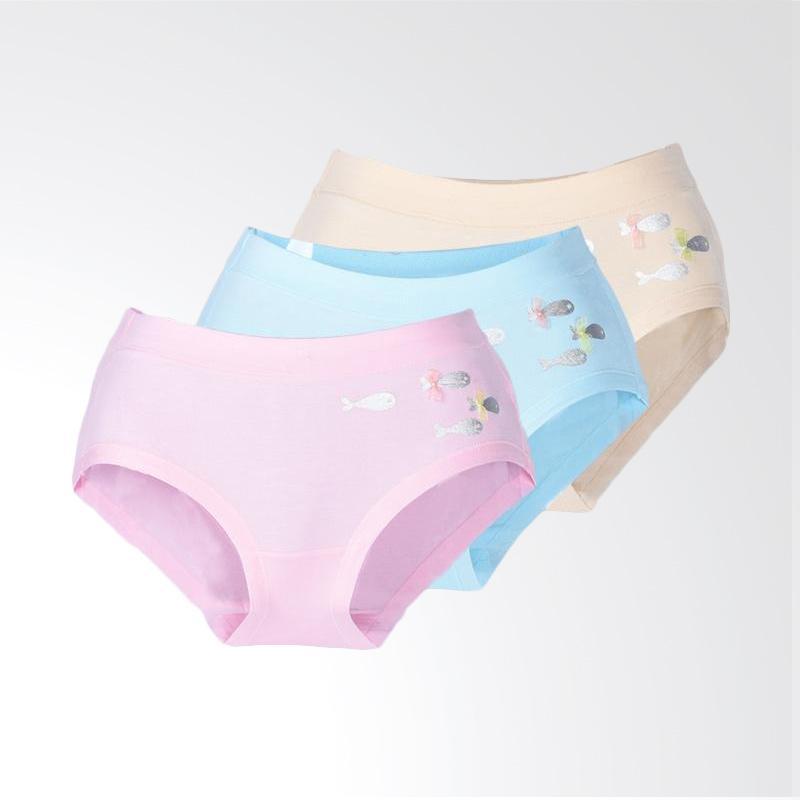 harga You've Plain Fish 6827 Panty Celana Dalam Wanita - Multicolor [3 Pcs] Blibli.com