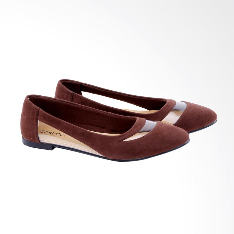 Garucci GDC 6115 Ballerina Shoes Wanita - Brown