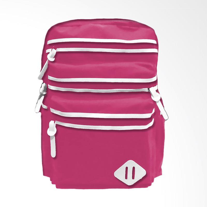 Bag & Stuf Oxfordia Casual Backpack Wanita - Pink