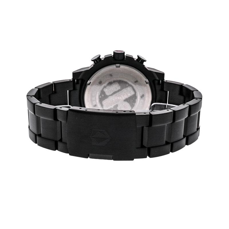Expedition Man Chronograph Black Dial Stainless Steel Jam Tangan Pria - Black EXF-6716-MCBIPBA