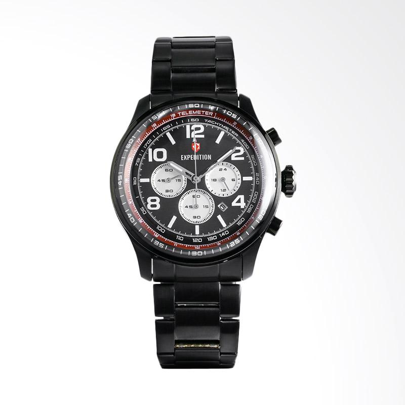 Expedition – Expedition Man Chronograph Black Dial Black Stainless Steel Jam  Tangan Pria – Black EXF-6728-MCBIPBARE ad2532dd6e