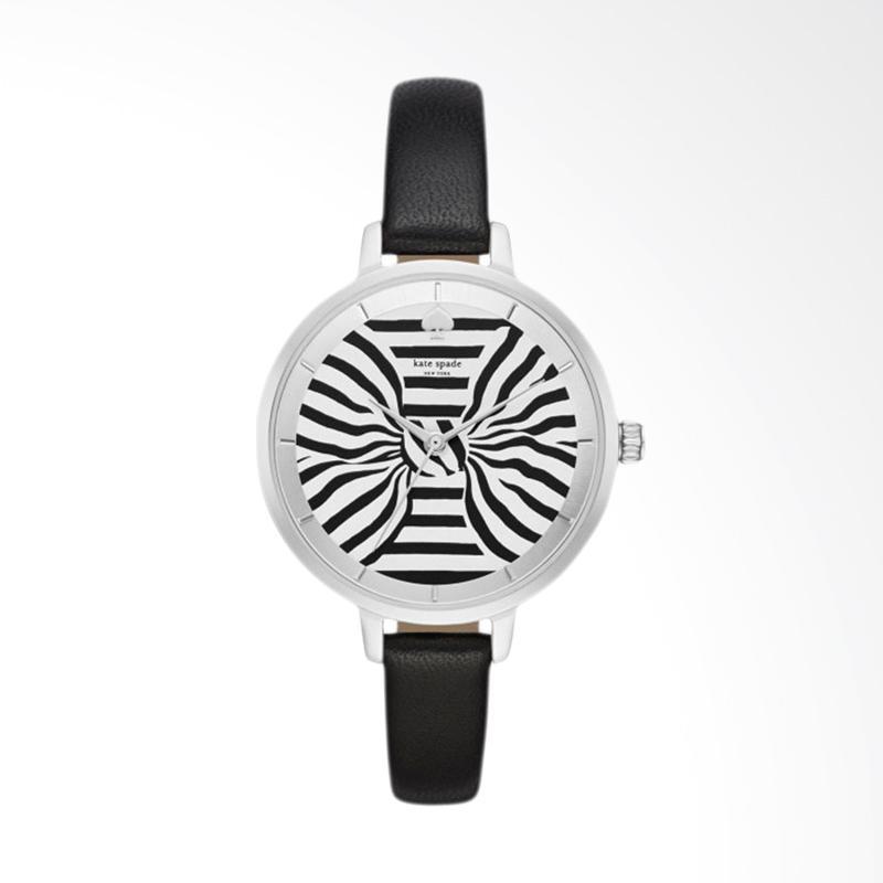Kate Spade KSW1032 Metro White Dial Leather Strap Watch Jam Tangan Wanita - Black