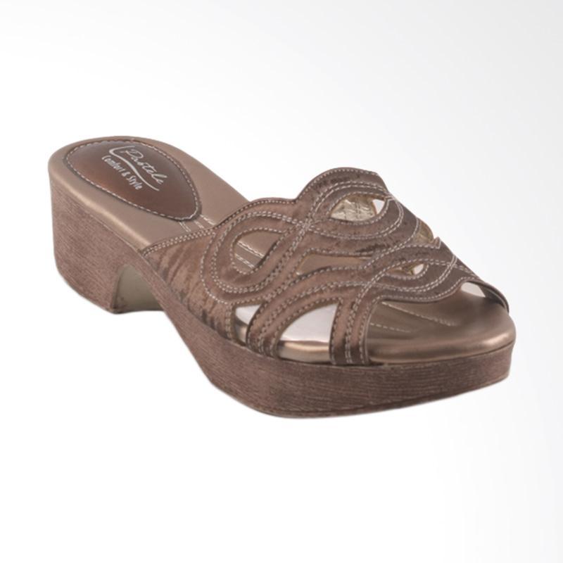 harga Pastele Wanda Sandal Wanita - Brown Blibli.com