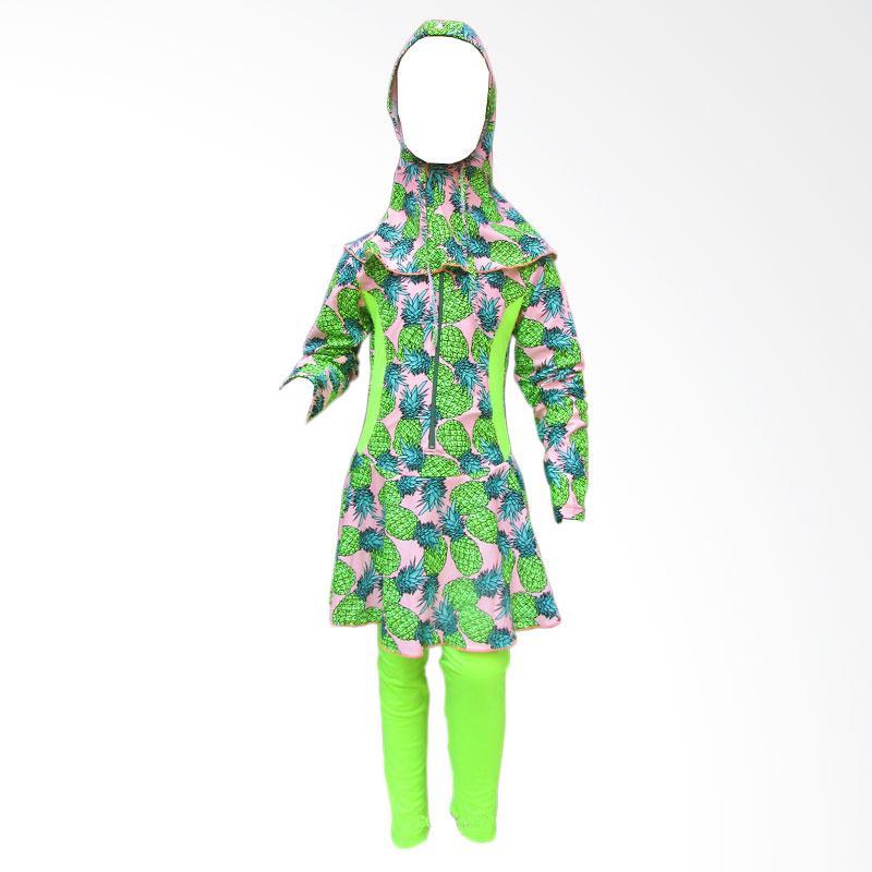 harga Rainy Collections Motif Nanas Set Baju Renang Anak Muslim - Hijau [Usia 6-10 Tahun] Blibli.com