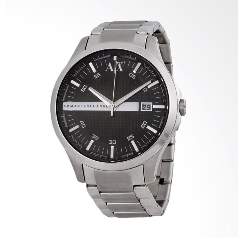 Armani Exchange Black Dial Silver Stainless Steel Jam Tangan Pria AX2103
