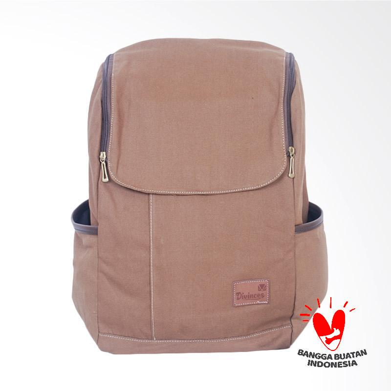 Divinces Sticky Backpack Pria Khaki