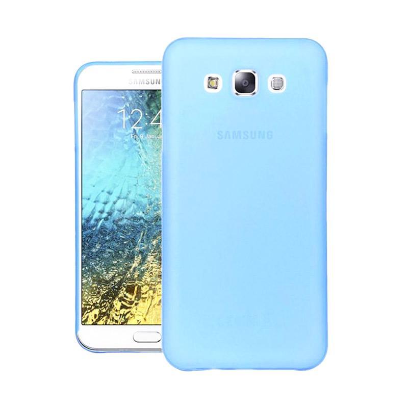 Ume Ultrathin Silicone Jelly Softcase Casing for Samsung Galaxy E5 E500 - Biru
