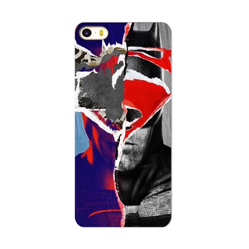 QCF Motif Super Hero Superman Hardcase Backcase Casing for Apple iPhone 5G / 5S / 5SE - Black