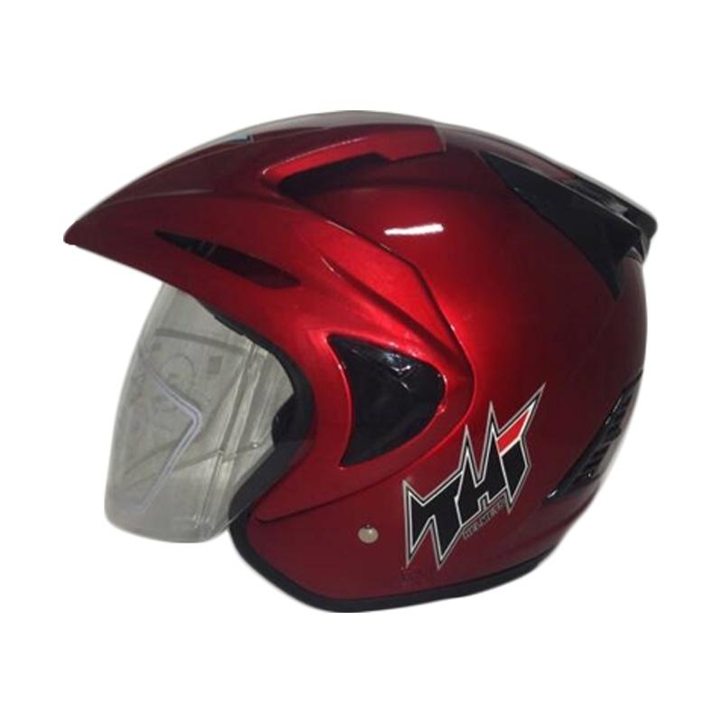THI Helmets Rookie Polos Helm Half Face - Merah