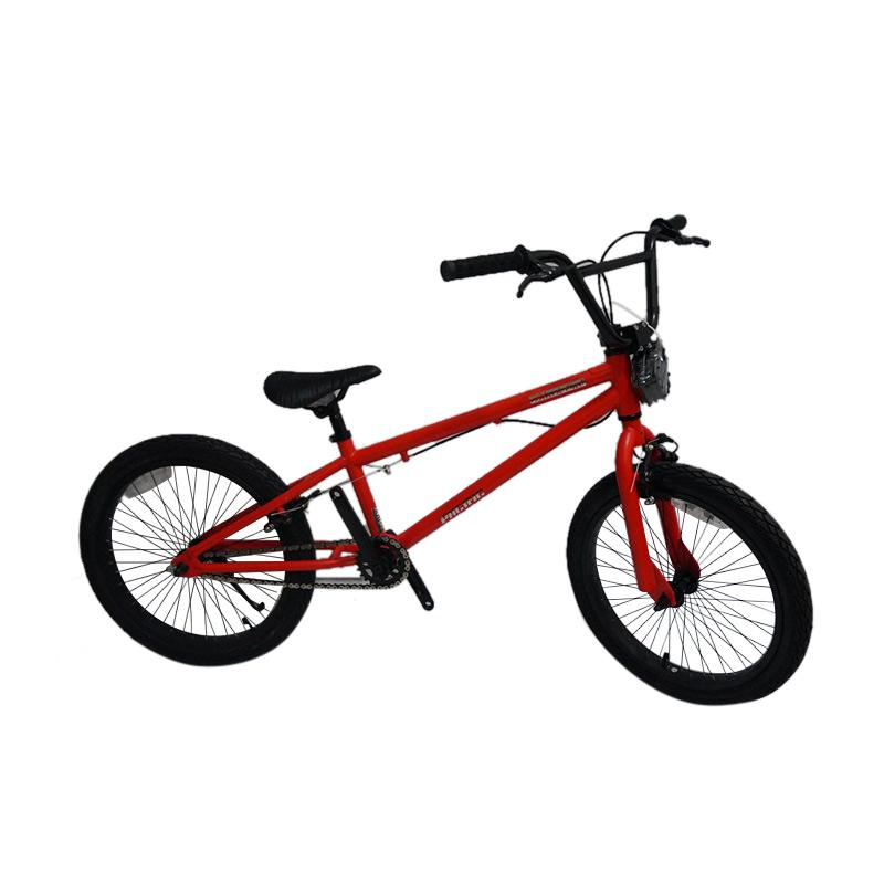 Pacific Black Out Sepeda Bmx - Red [20 Inch]
