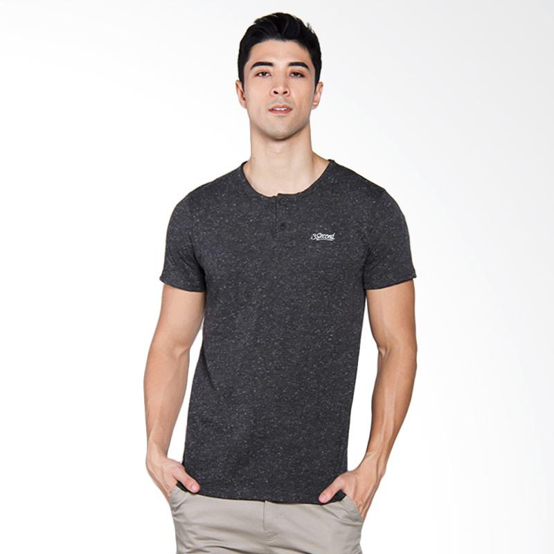 3SECOND 2304 T-shirt Pria - Black [123041712]